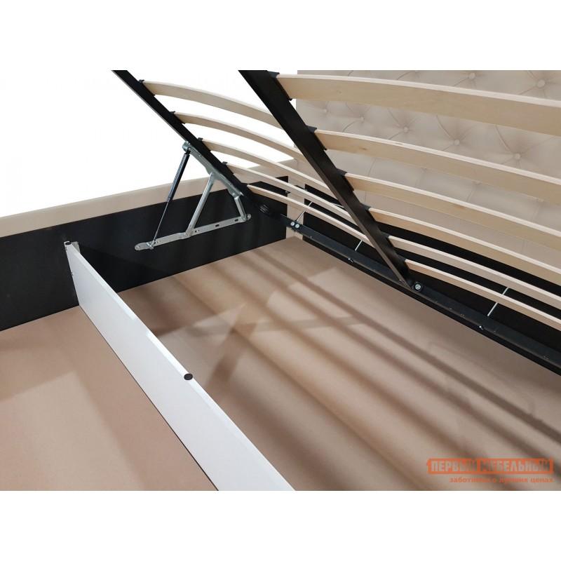 Двуспальная кровать  Кровать с подъемным механизмом Офелия Слоновая кость, экокожа, 1600 Х 2000 мм (фото 5)