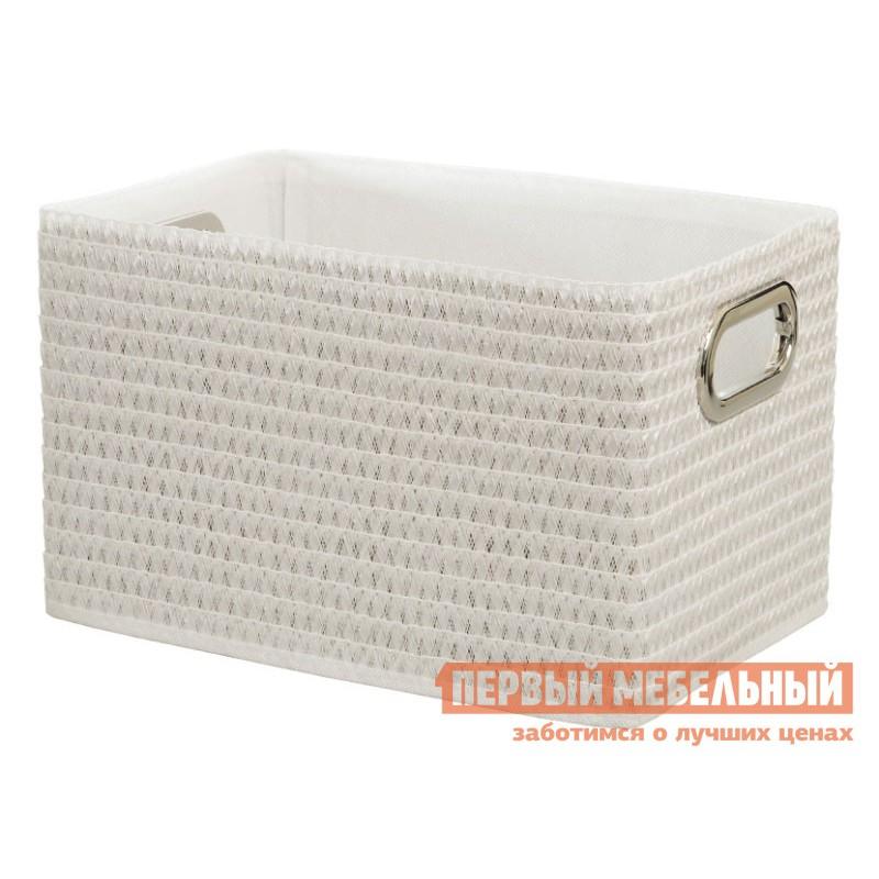 Корзина для хранения  Орнамент Белый, полипропилен / Белый, ткань