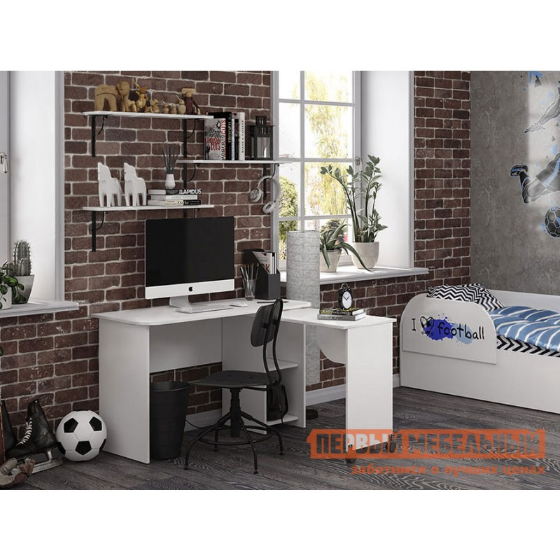 Компьютерный стол детский  Трио письменный стол ПС-03 Белый (фото 3)