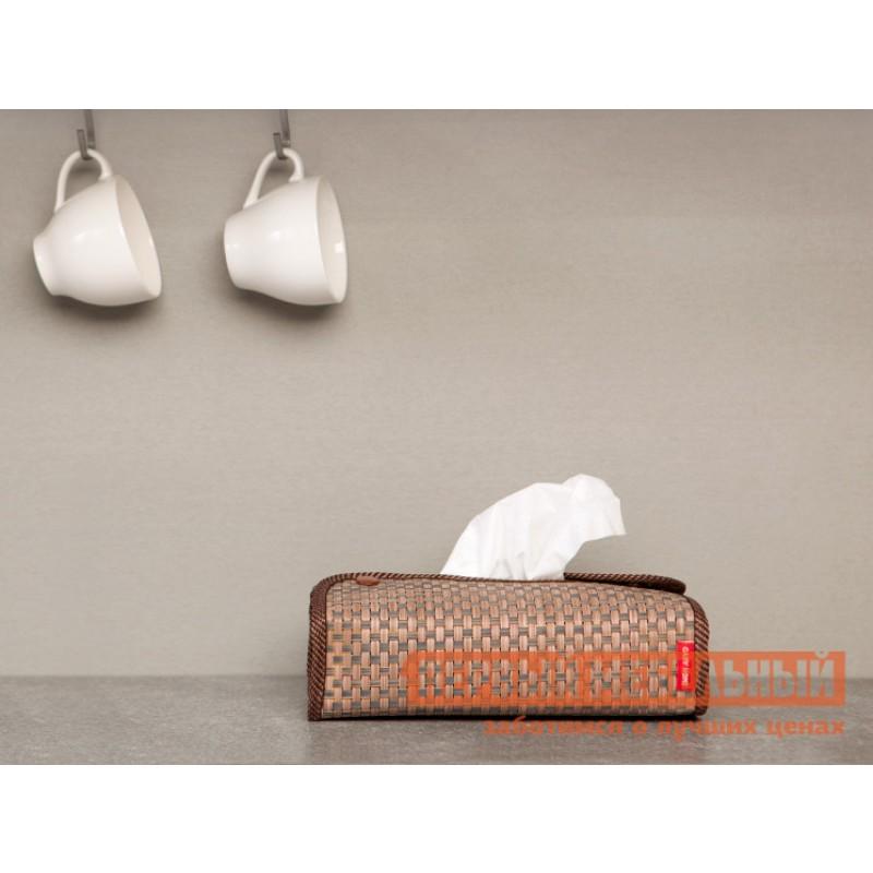 Аксессуары для сервировки и хранения  Салфетница 24х12х6см Коричневый, текстилен (фото 2)
