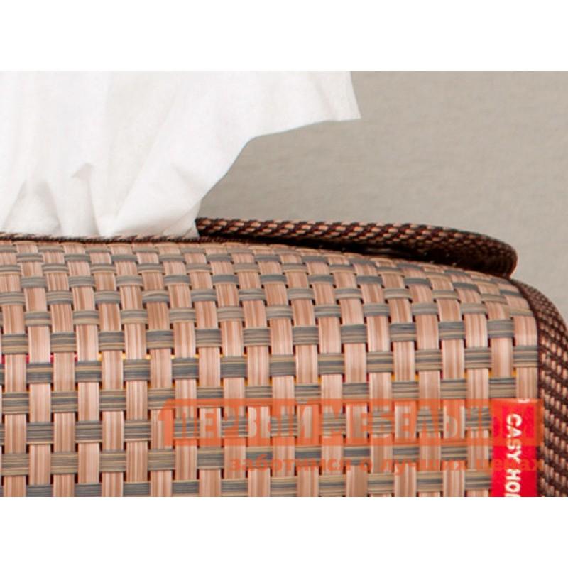 Аксессуары для сервировки и хранения  Салфетница 24х12х6см Коричневый, текстилен (фото 4)