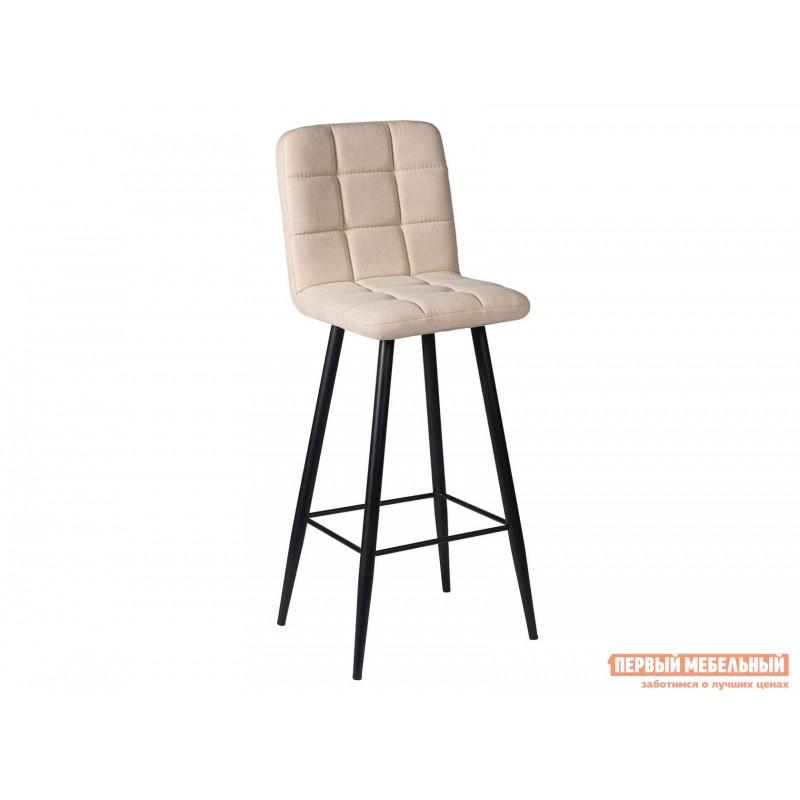Барный стул  Стул ДП2-08 Барный М106 Канди крем, велюр / Черный матовый