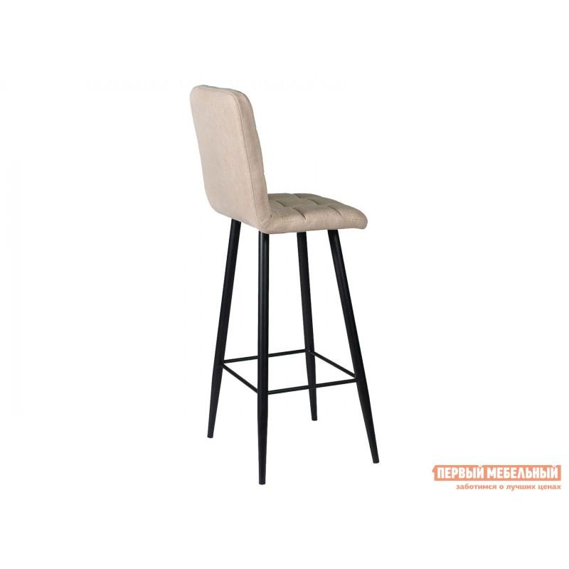 Барный стул  Стул ДП2-08 Барный М106 Канди крем, велюр / Черный матовый (фото 2)