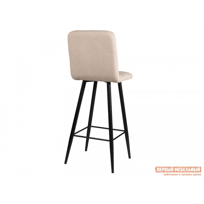 Барный стул  Стул ДП2-08 Барный М106 Канди крем, велюр / Черный матовый (фото 3)
