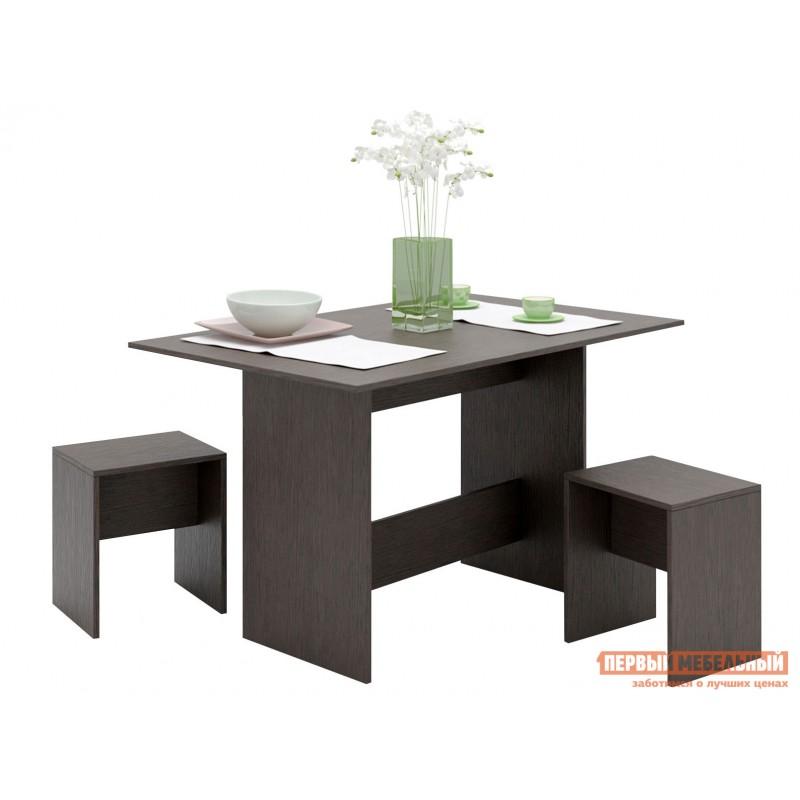 Обеденная группа для столовой и гостиной  Уно-80 / Уно-81 Венге, 2 табурета