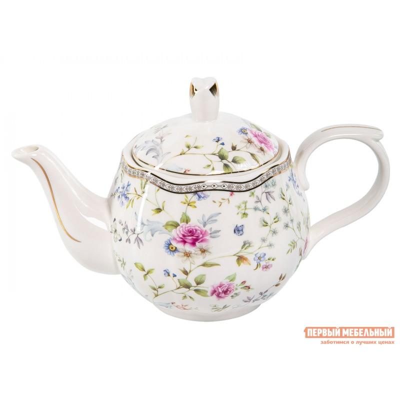 Заварочный чайник   Роза с цветами, фарфор
