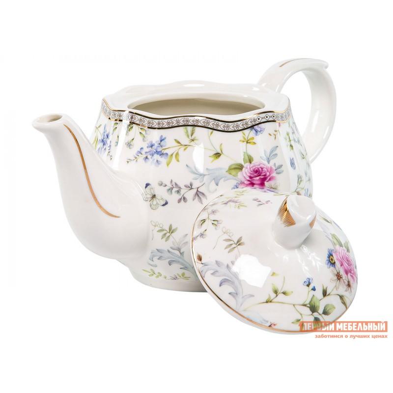 Заварочный чайник   Роза с цветами, фарфор (фото 3)