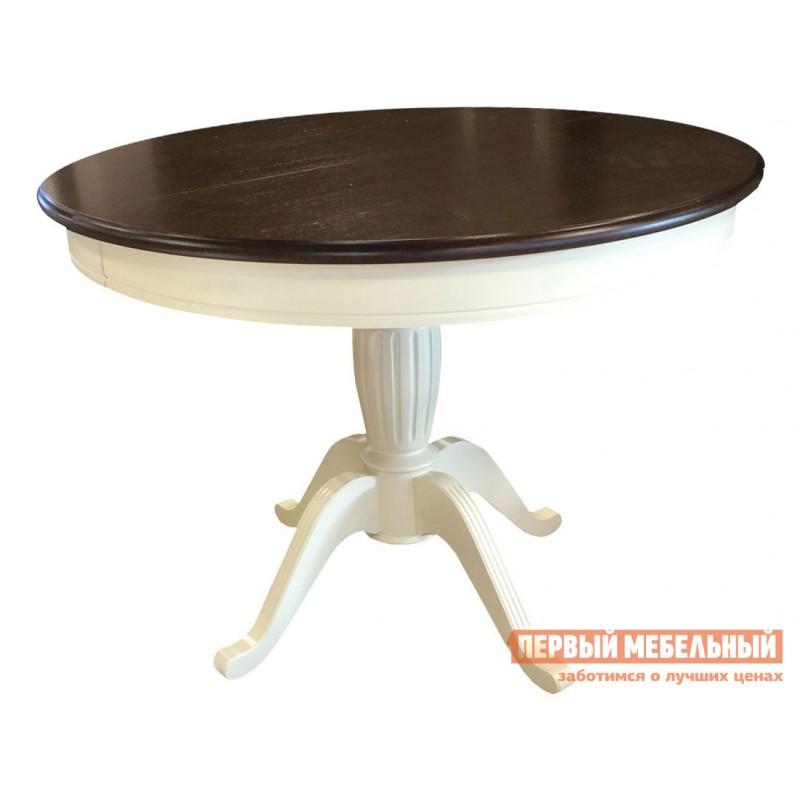 Обеденная группа для столовой и гостиной  Леонардо стол + 4 стула Кристиан Слоновая кость / Орех Темный (фото 2)