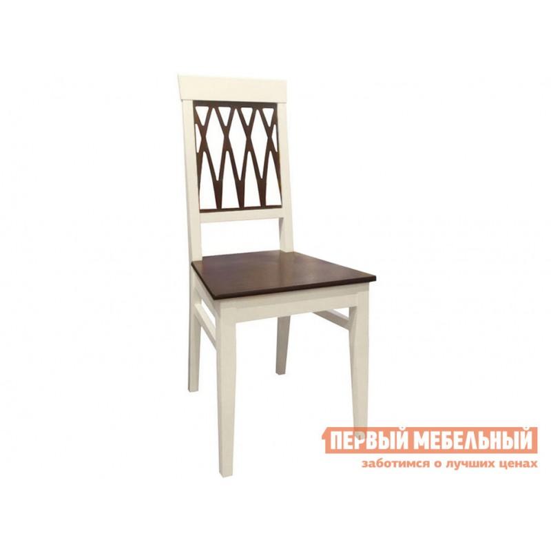 Обеденная группа для столовой и гостиной  Леонардо стол + 4 стула Кристиан Слоновая кость / Орех Темный (фото 4)