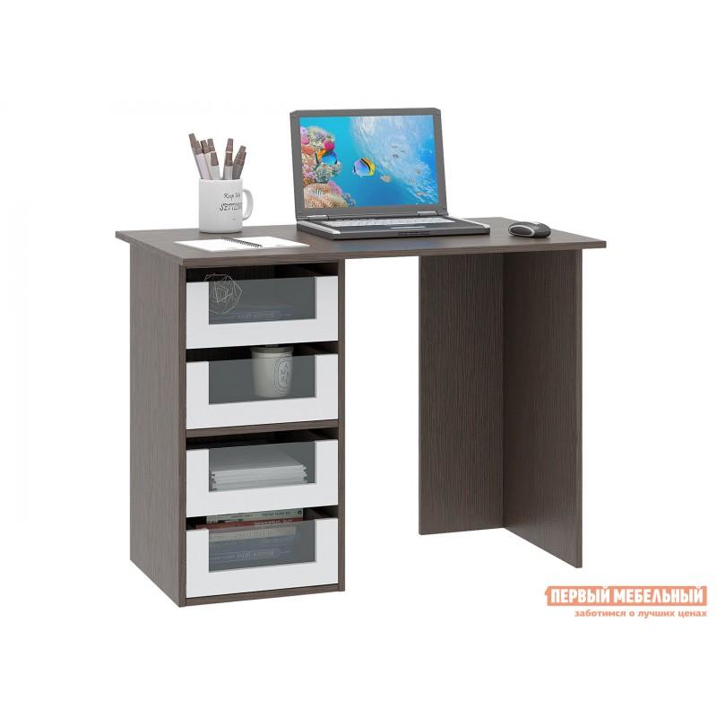 Письменный стол  Прайм-33 Венге / Белый