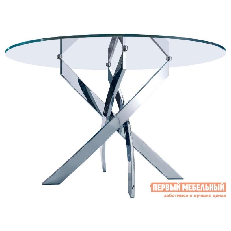Кухонный стол  Канди Хром / Стекло прозрачное (фото 2)