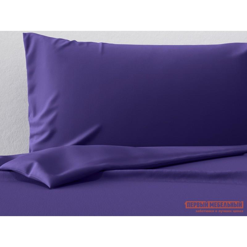 Комплект постельного белья  КПБ сатин однотонный (фиолетовый ОСНОВА СНОВ) Фиолетовый, сатин, Двуспальный