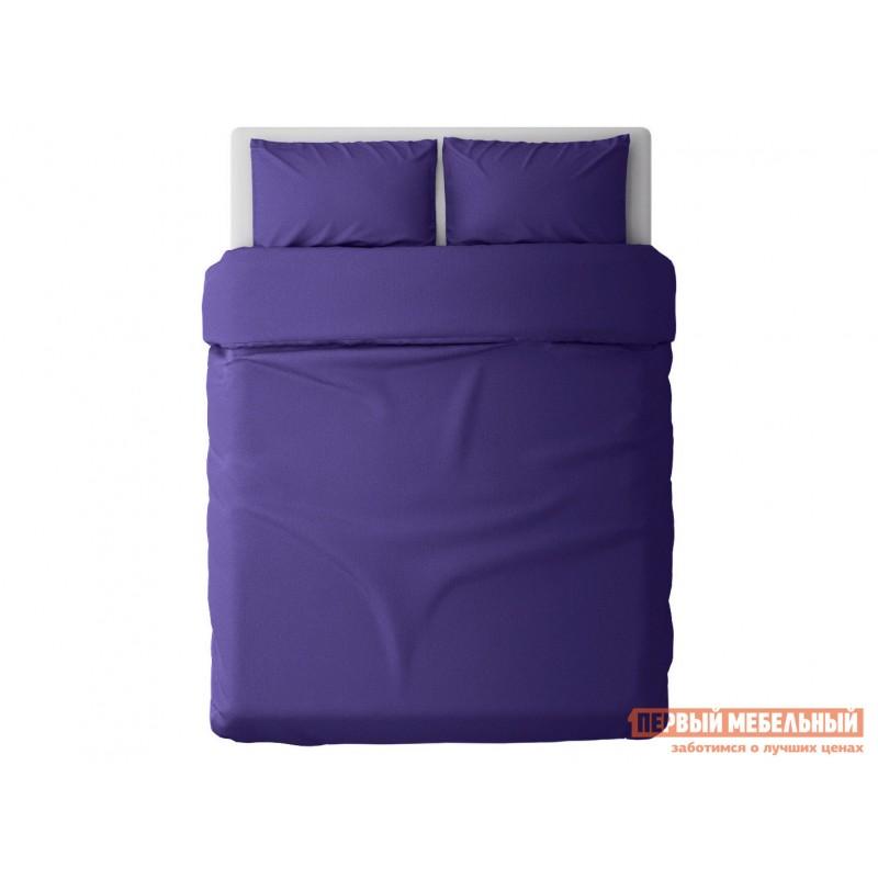Комплект постельного белья  КПБ сатин однотонный (фиолетовый ОСНОВА СНОВ) Фиолетовый, сатин, Двуспальный (фото 2)