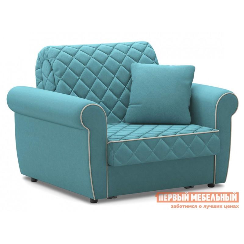 Кресло  Кресло-кровать Денвиль / Кресло-кровать Денвиль НПБ Бирюзовый, велюр , Независимый пружинный блок, новый