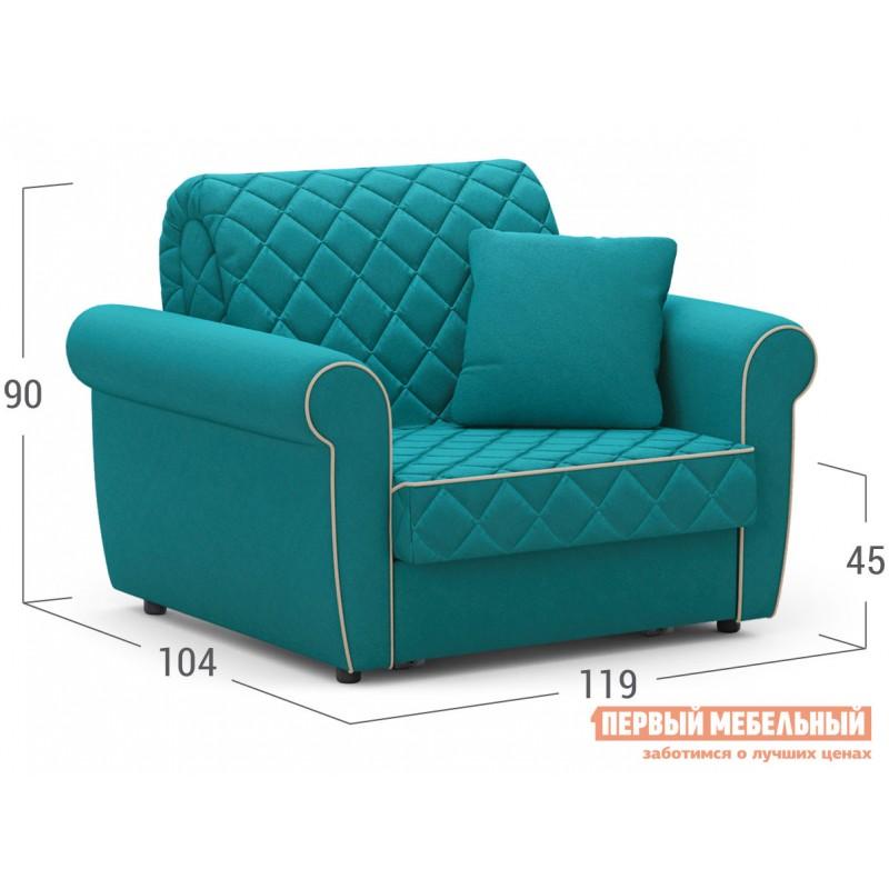 Кресло  Кресло-кровать Денвиль / Кресло-кровать Денвиль НПБ Бирюзовый, велюр , Независимый пружинный блок, новый (фото 2)