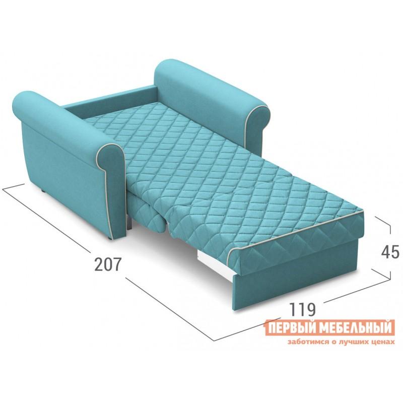 Кресло  Кресло-кровать Денвиль / Кресло-кровать Денвиль НПБ Бирюзовый, велюр , Независимый пружинный блок, новый (фото 3)
