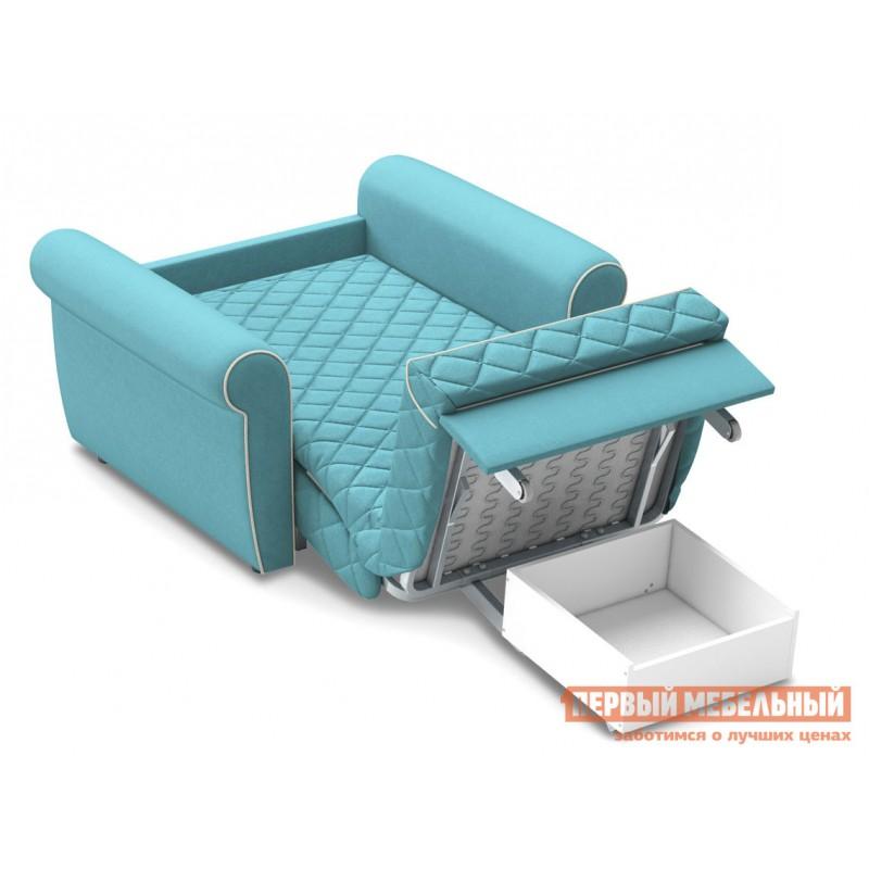 Кресло  Кресло-кровать Денвиль / Кресло-кровать Денвиль НПБ Бирюзовый, велюр , Независимый пружинный блок, новый (фото 4)