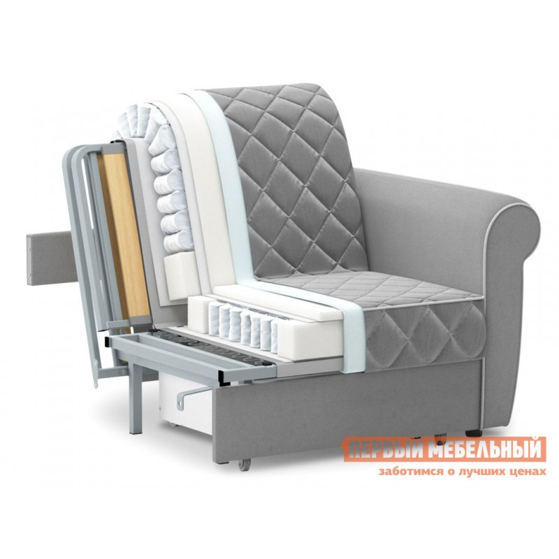 Кресло  Кресло-кровать Денвиль / Кресло-кровать Денвиль НПБ Бирюзовый, велюр , Независимый пружинный блок, новый (фото 5)