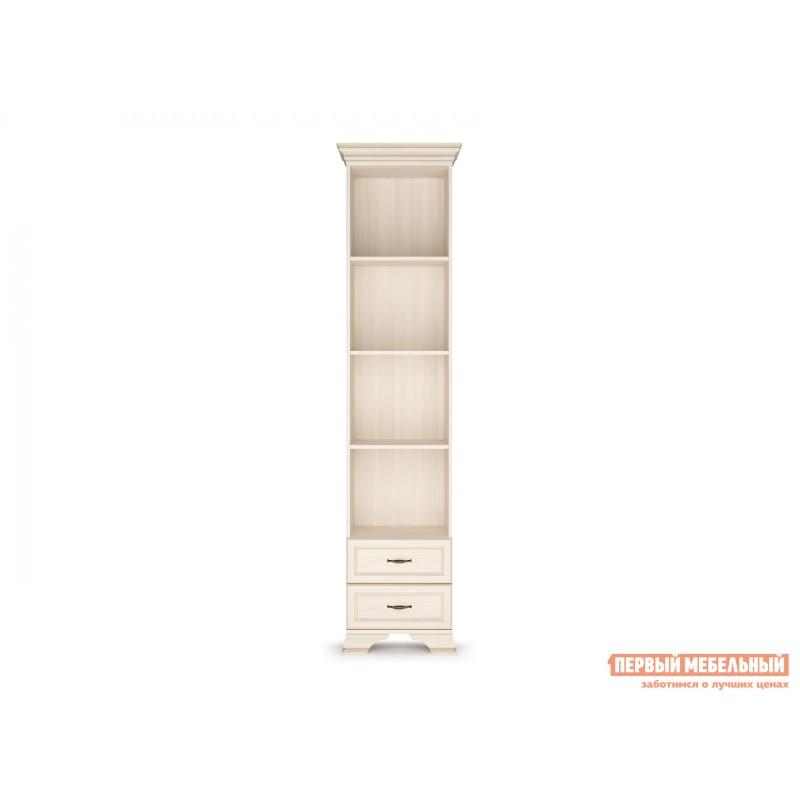 Стеллаж  Шкаф-стеллаж 600 Сиена Бодега белый, патина золото, Средний (фото 2)
