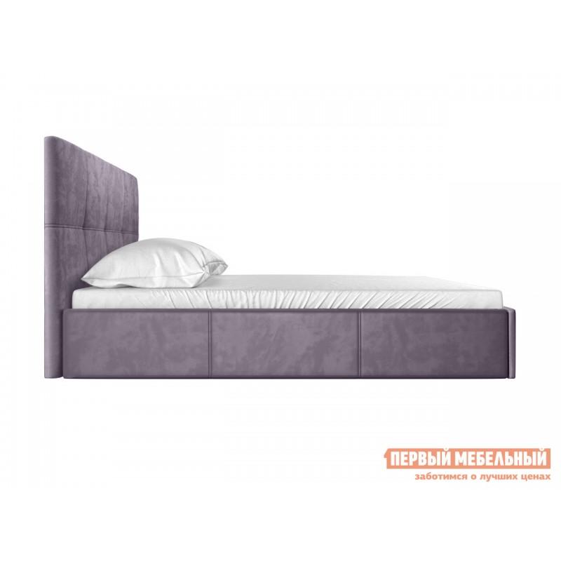 Двуспальная кровать  Верда Лаванда, велюр, 160х200 см (фото 3)