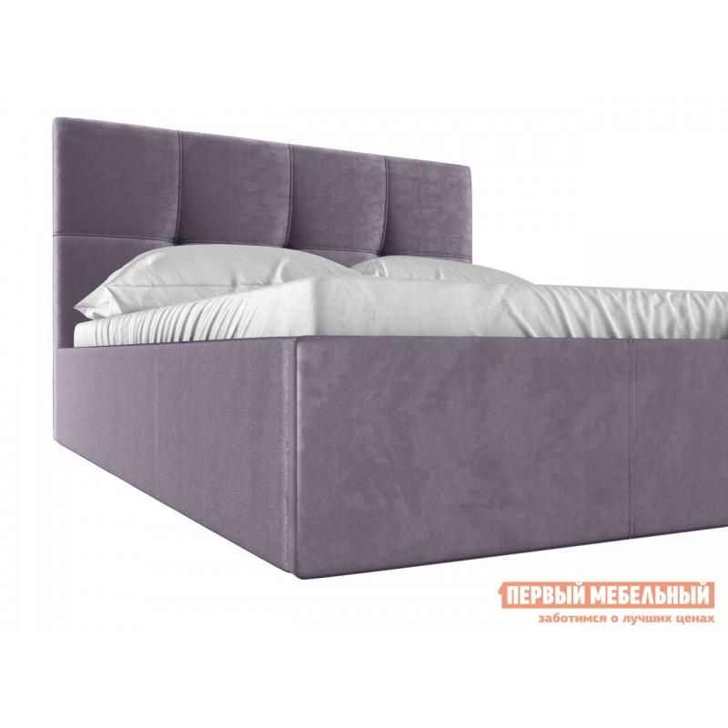 Двуспальная кровать  Верда Лаванда, велюр, 160х200 см (фото 4)