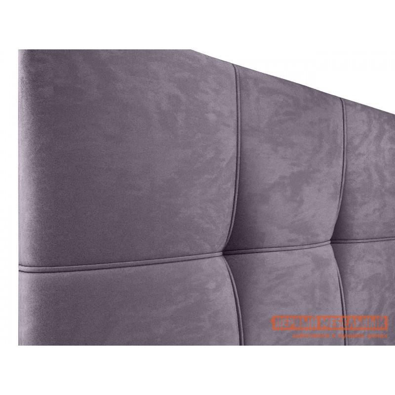 Двуспальная кровать  Верда Лаванда, велюр, 160х200 см (фото 5)