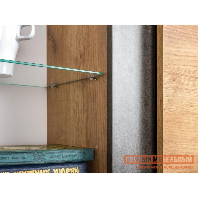Шкаф-витрина  Шкаф-витрина Арчи 03.263 Дуб золотой craft / Камень темный (фото 2)