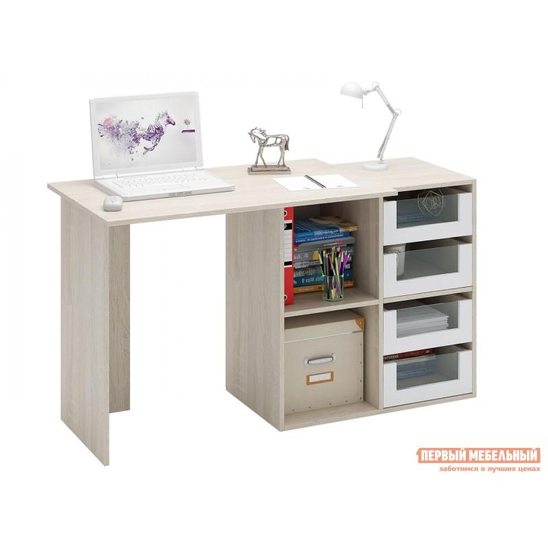 Письменный стол  Прайм-38 Дуб Сонома / Белый