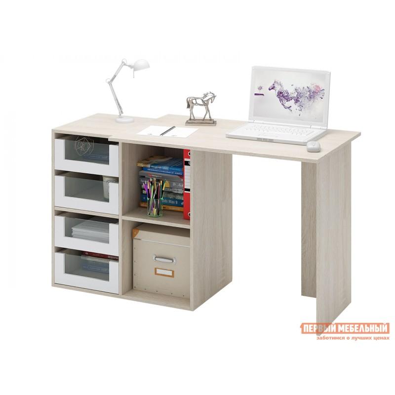 Письменный стол  Прайм-38 Дуб Сонома / Белый (фото 2)