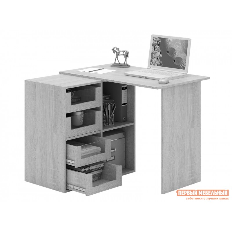 Письменный стол  Прайм-38 Дуб Сонома / Белый (фото 6)