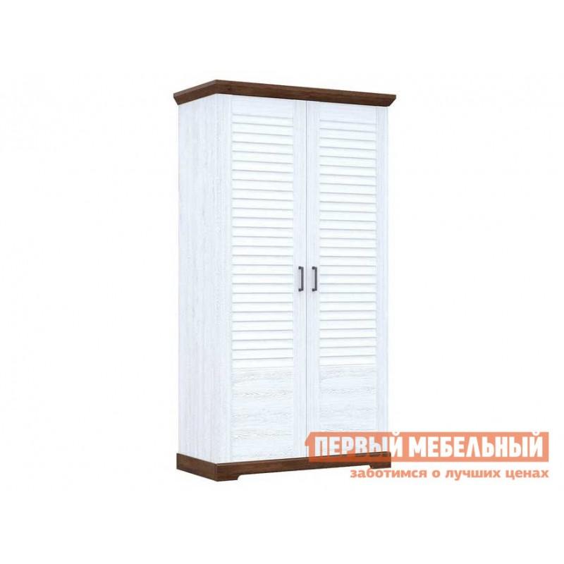 Шкаф распашной  Шкаф для одежды 2-х дверный Кантри Сосна андресон/ Орех рибек темный