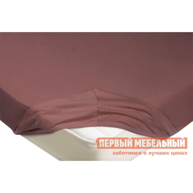 Простыня  Простыня на резинке трикотажная Лиловый, 1400 Х 2000 Х 200 мм