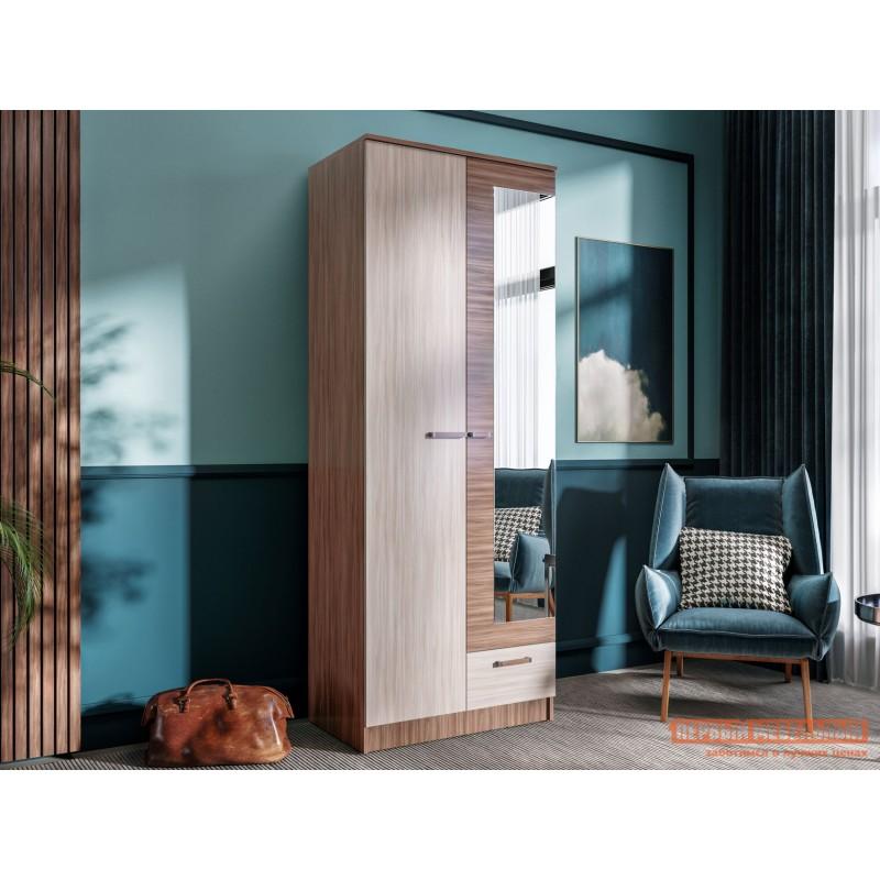 Распашной шкаф  Шкаф Адель 0,8 м Ясень шимо светлый / Ясень шимо темный (фото 2)