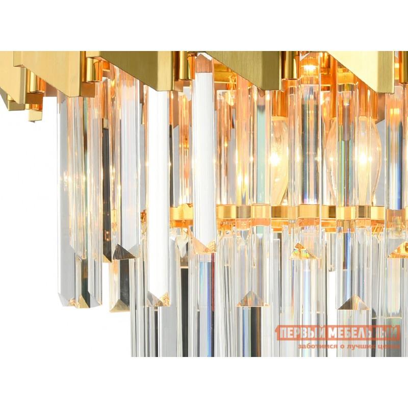 Потолочная люстра  DELTA 5 x E14, 40W 79005/6C Латунь, металл / Хрусталь (фото 2)