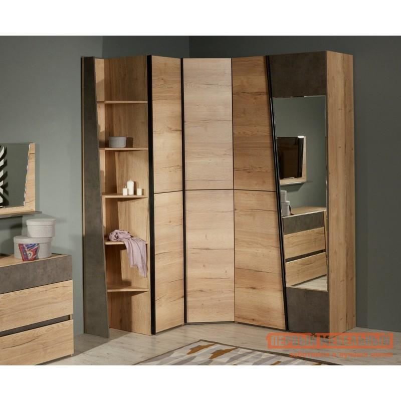 Распашной шкаф  Стреза 8 Дуб Галифакс, Без дополнительных полок (фото 2)