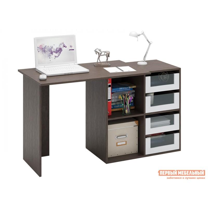 Письменный стол  Прайм-38 Венге / Белый