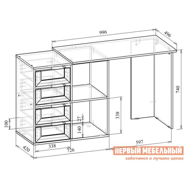 Письменный стол  Прайм-38 Венге / Белый (фото 6)