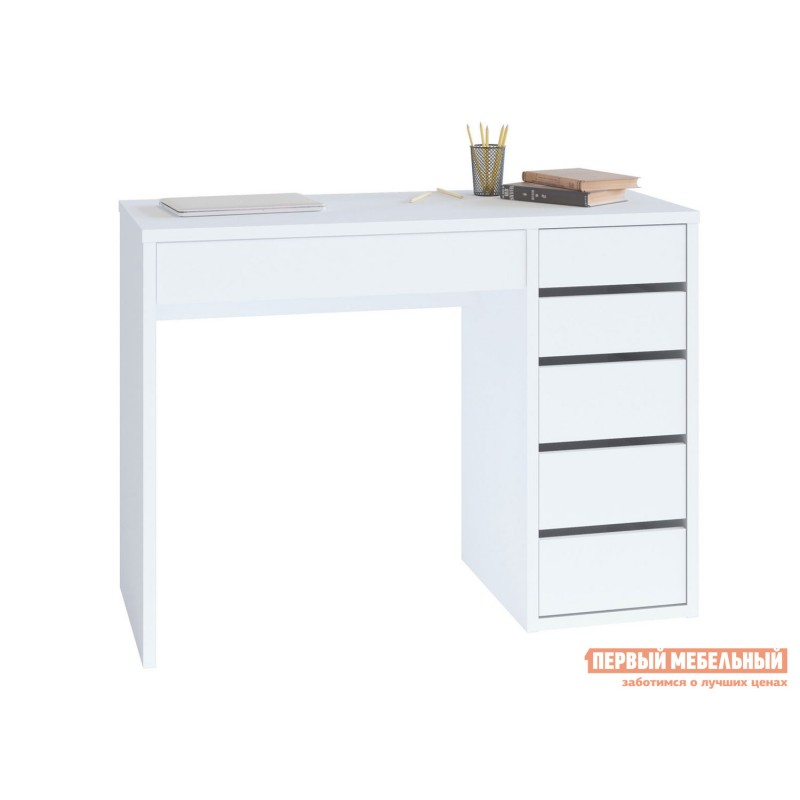Письменный стол  СПм-10 Белый, Правый
