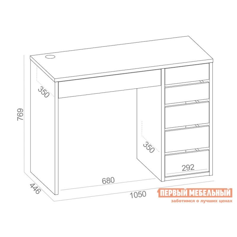 Письменный стол  СПм-10 Белый, Правый (фото 4)