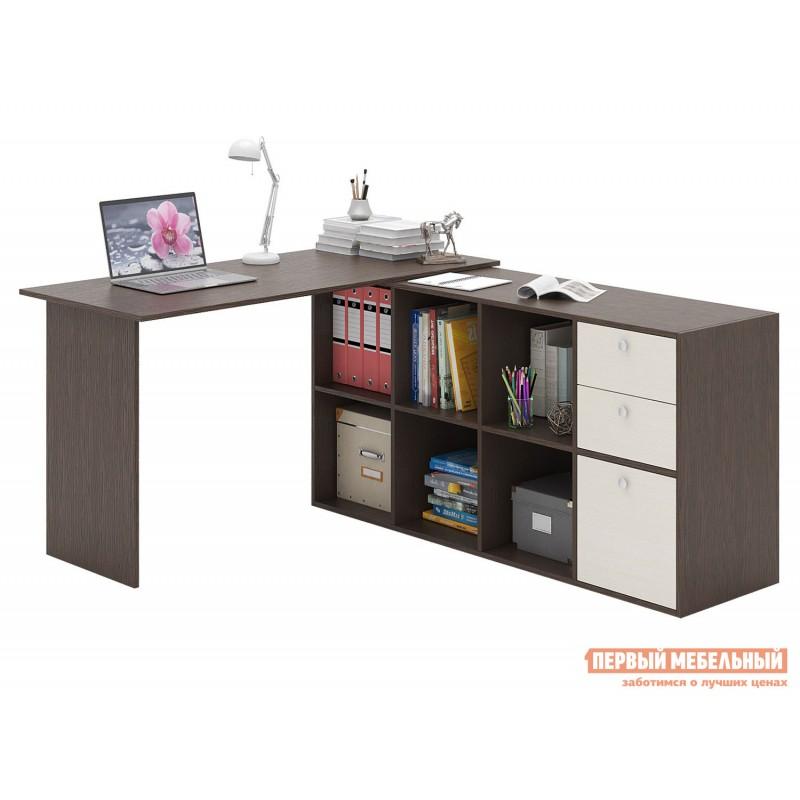 Письменный стол  Прайм-74 Венге / Дуб молочный