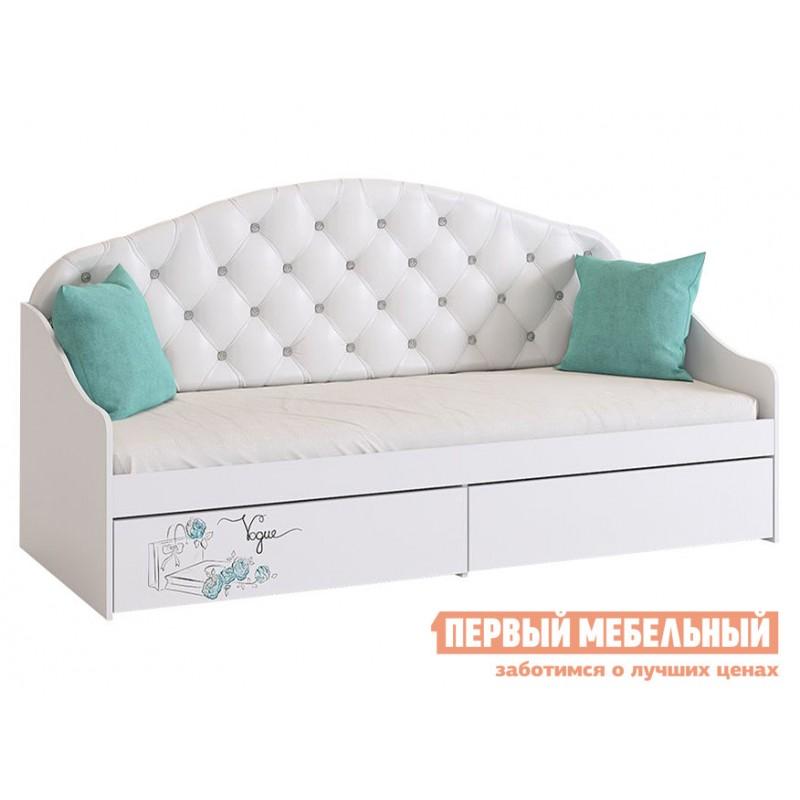 Детская кровать  Гламур Кровать Белый / Белый глянец, Без бортика