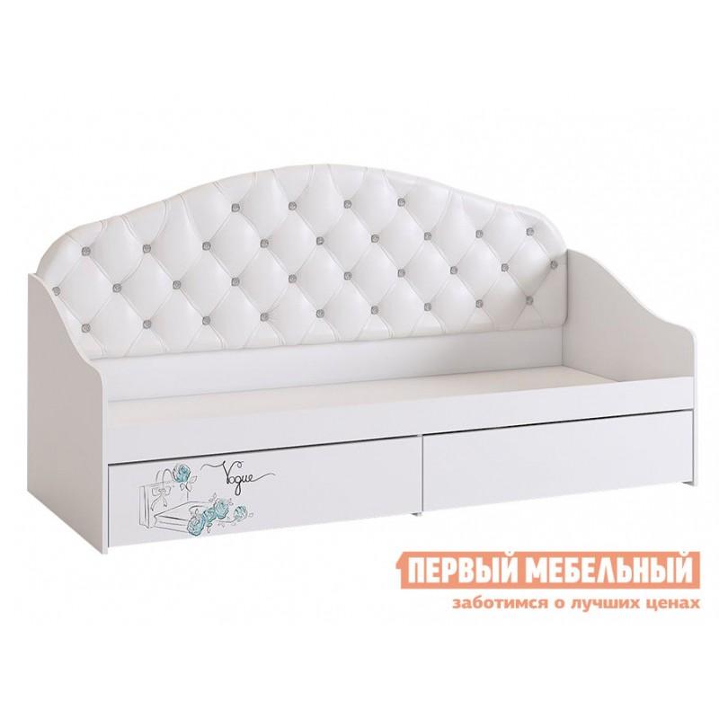 Детская кровать  Гламур Кровать Белый / Белый глянец, Без бортика (фото 2)
