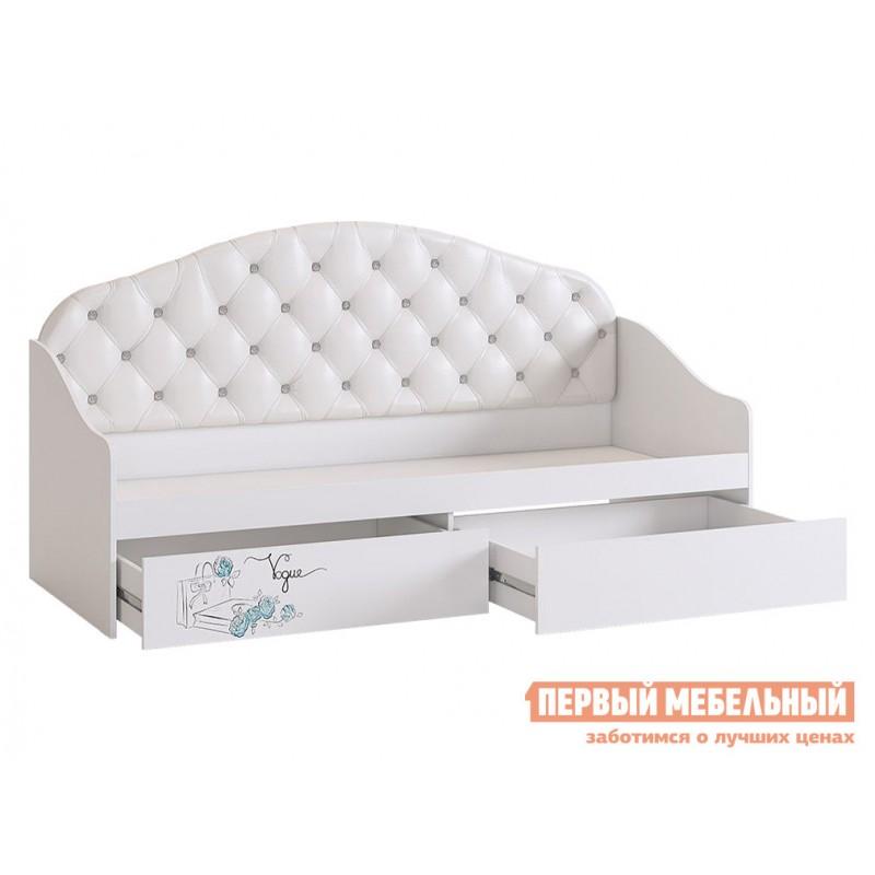 Детская кровать  Гламур Кровать Белый / Белый глянец, Без бортика (фото 3)