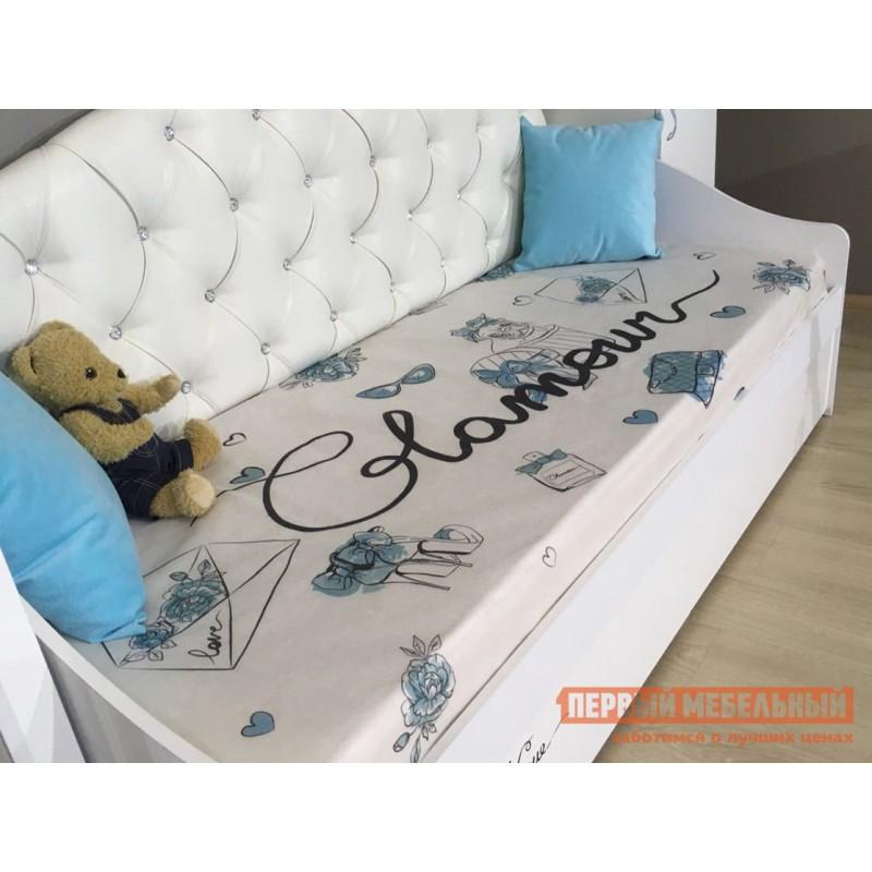 Детская кровать  Гламур Кровать Белый / Белый глянец, Без бортика (фото 4)