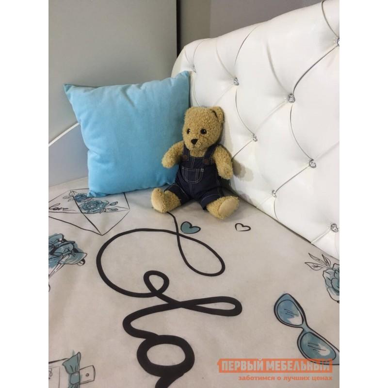 Детская кровать  Гламур Кровать Белый / Белый глянец, Без бортика (фото 6)
