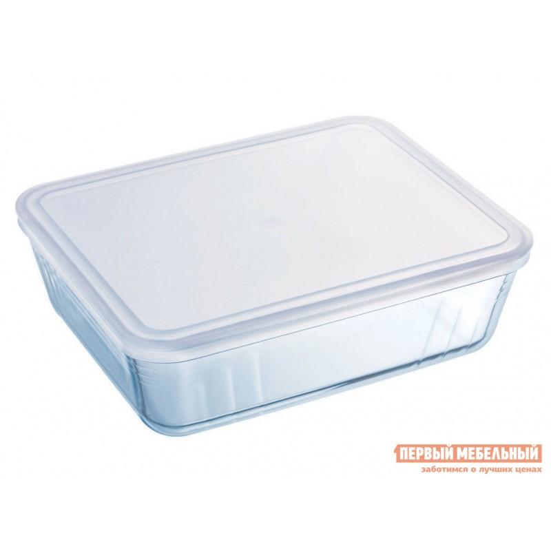 Форма для выпечки  Контейнер с крышкой Cook Freez 25x19x8см 2.6л прямоугольный Стекло