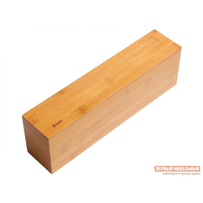 Емкость для хранения  Ящичек для чая, 4 секции, 32*7*10 см, бамбук BRAVO Бамбук (фото 2)