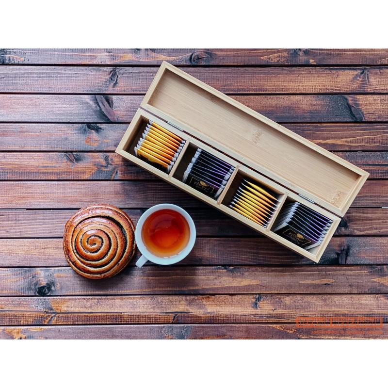 Емкость для хранения  Ящичек для чая, 4 секции, 32*7*10 см, бамбук BRAVO Бамбук (фото 5)