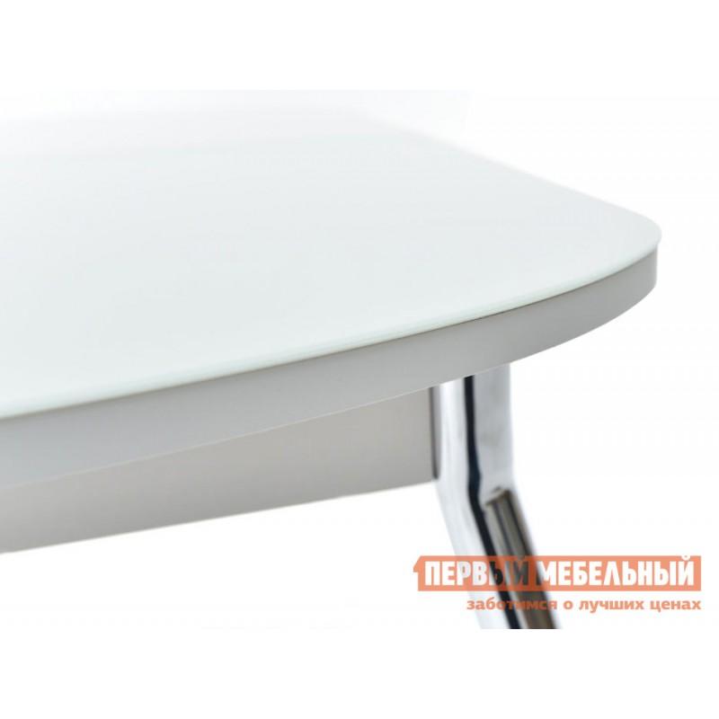 Обеденная группа для столовой и гостиной  Стол Ривьера + 4 стула Мартини Стекло Белое / ЛДСП Белая (фото 6)