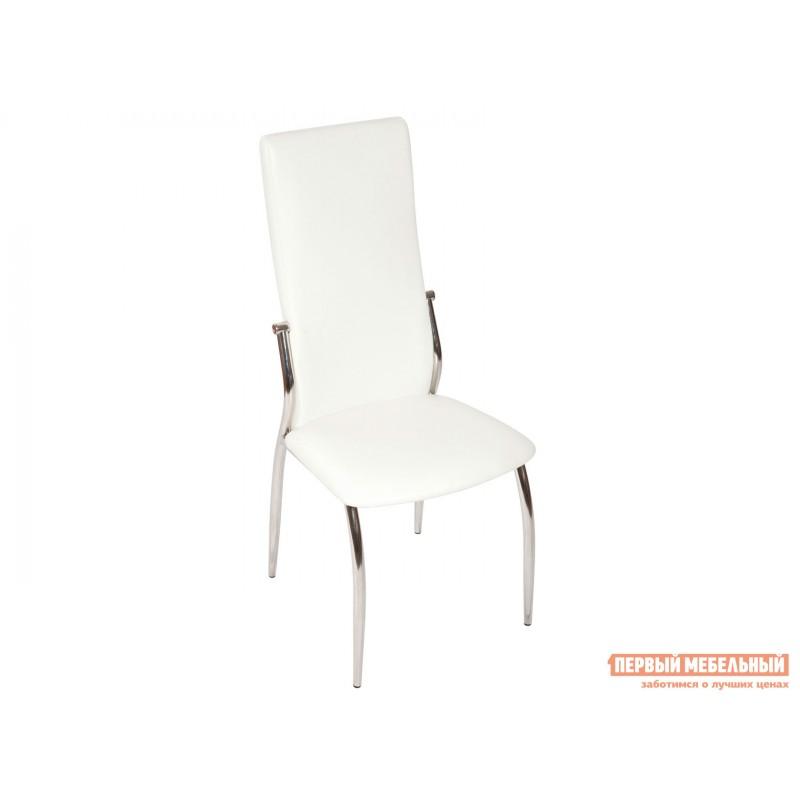 Обеденная группа для столовой и гостиной  Стол Ривьера + 4 стула Мартини Стекло Белое / ЛДСП Белая (фото 7)